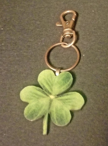 Shamrock Wood Key Chain