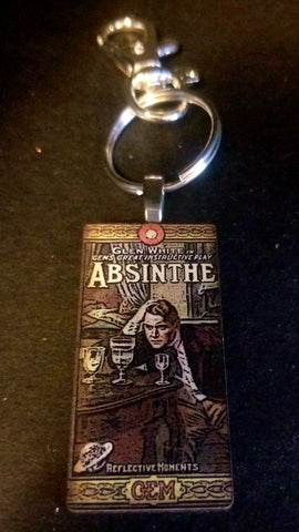 Glen White Absinthe Wood Key Chain