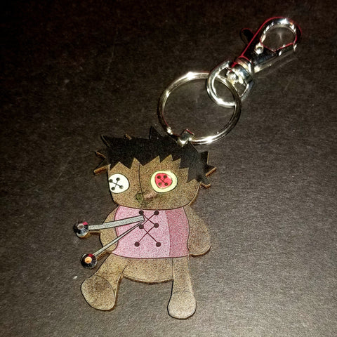 Chubbie Voodoo Doll Wood Key Chain