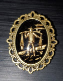 Asian Water Carrier Brooch