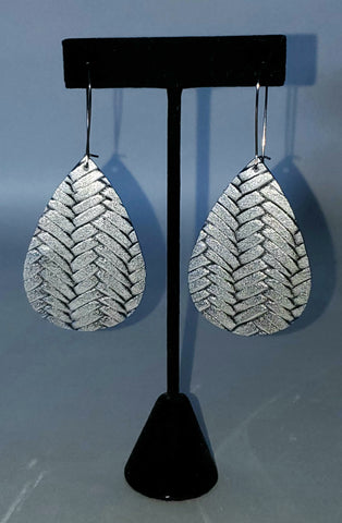 Silver Braided Drop Earrings