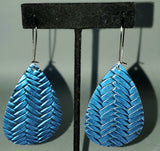 Blue Braided Drop Earrings