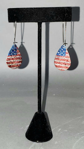 American Flag Drop Earrings