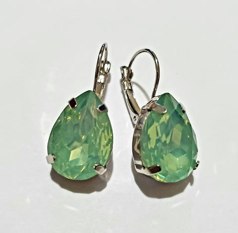 Tear Drop Myst Green Earrings