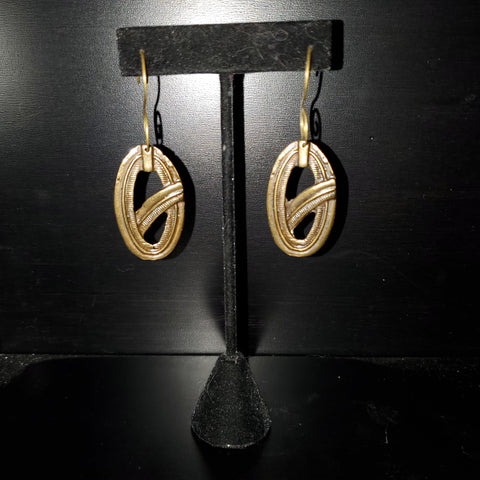 Gallo Raw Brass Earrings