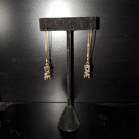 Love Raw Brass Earrings