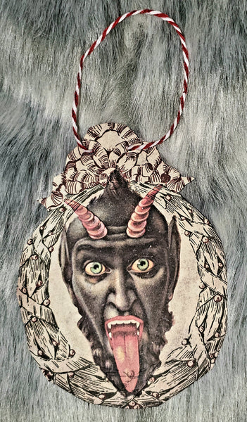 Vintage Krampus paper Ornaments