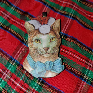 Christmas Kitty Ornament #1