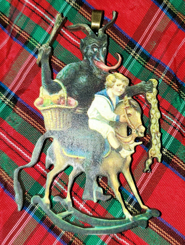 Vintage Krampus Ornament (pony)