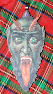 Classic Krampus Face Ornament