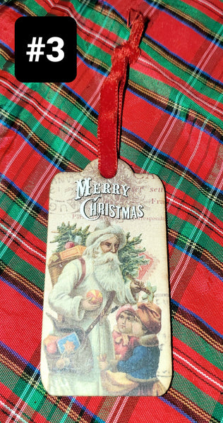 Vintage Father Christmas Ornaments