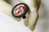 Kissing Cherubs Cabochon Ring