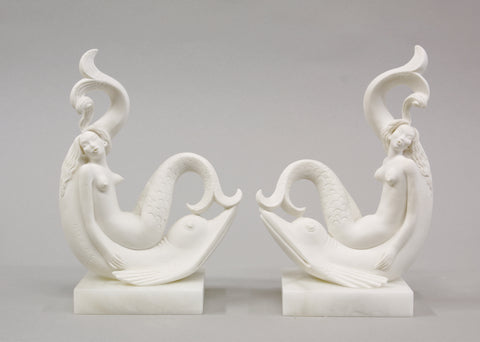 Pair of Siren Bookends