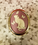 Curious Kitty Cameo Brooch