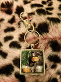 "1"" Vintage Halloween Pin Up Cabochon Key Chain"