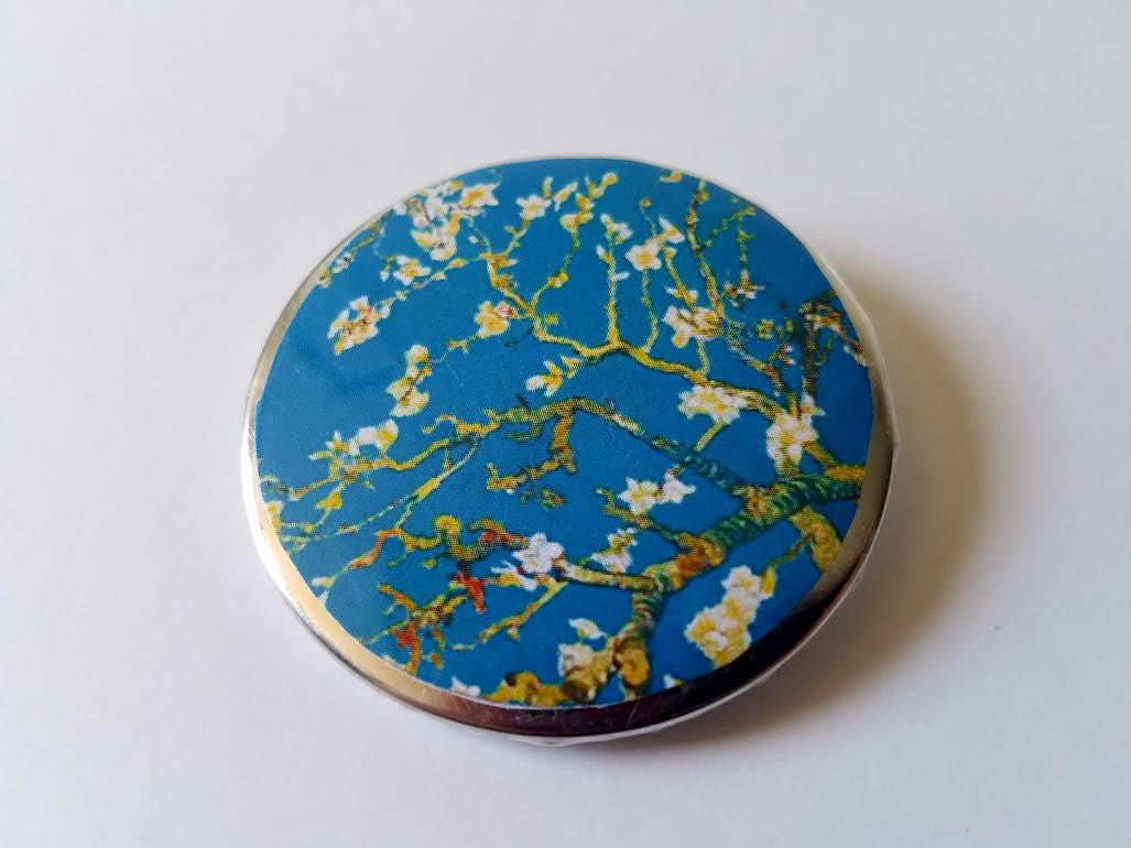 Almond Blossoms Button