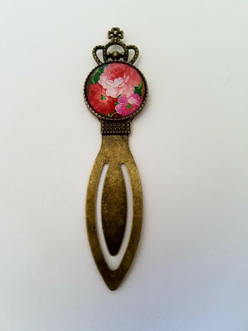 Floral Cabochon Bookmark