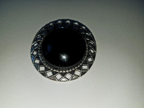 """Montana Sapphire"" Cabochon Brooch"