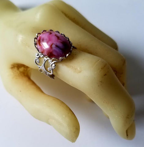 Pink Marble Ring