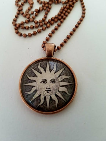 Sun Cabochon Necklace