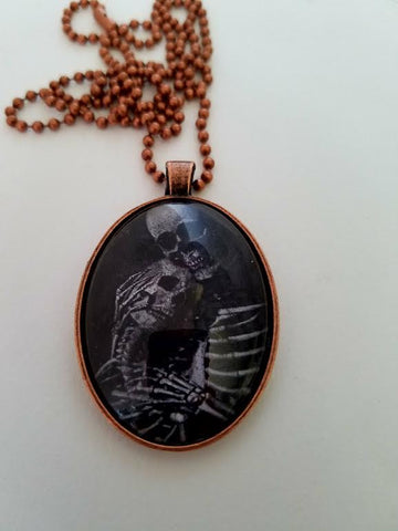 Til Death Cabochon Necklace