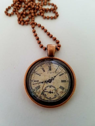 Time Cabochon Necklace