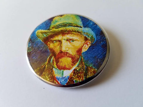 Self Portait With Grey Felt Hat Button