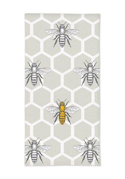 "MUkitchen Cotton Oversized  Kitchen Towel, 20 by 30"", Beehive"