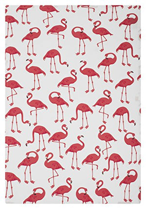 MUkitchen 6629-1862 Kitchen Designer Print Towel Set, Flock Of Flamingos