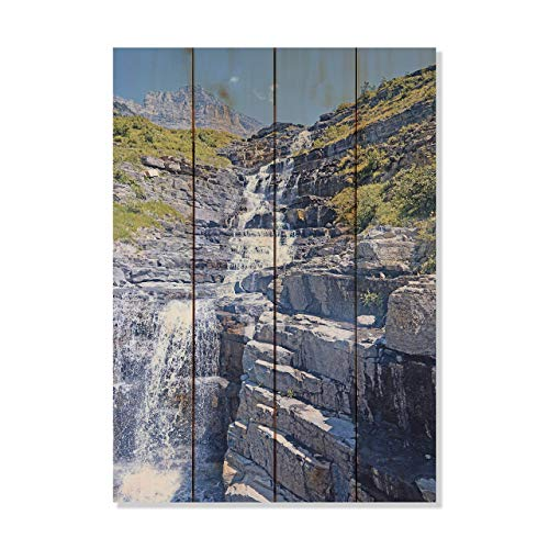 Montana Mottly Photos Glacier National Park Haystack Falls  Picture Wall Hanging