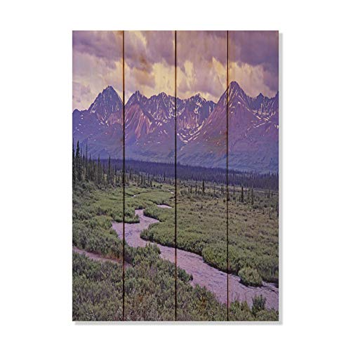 Purple Mountains Majesty Alaska Mountains Photo Picture Wall Hanging 14 by 20 Wile E. Wood Art™ …