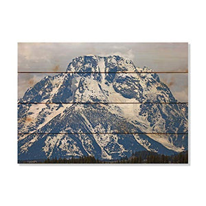 Montana Mottly Photos Alaska Mountain Top Snow Capped Picture Wall Hanging