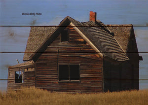 Rustic Cabin House Building Photo Picture Wall Hanging 20 by 14 Wile E. Wood Art™