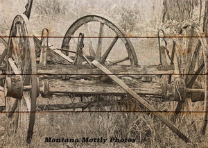 Rustic Nostalgic Wagon Photo Picture Wall Hanging 20 by 14 Wile E. Wood Art™