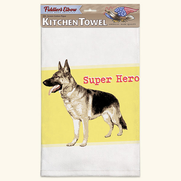 Fiddler's Elbow German Shepherd Kitchen Towel