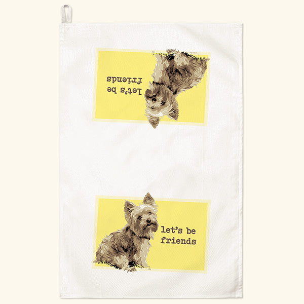 Fiddler's Elbow Yorkie Yorkshire Terrier Kitchen Towel