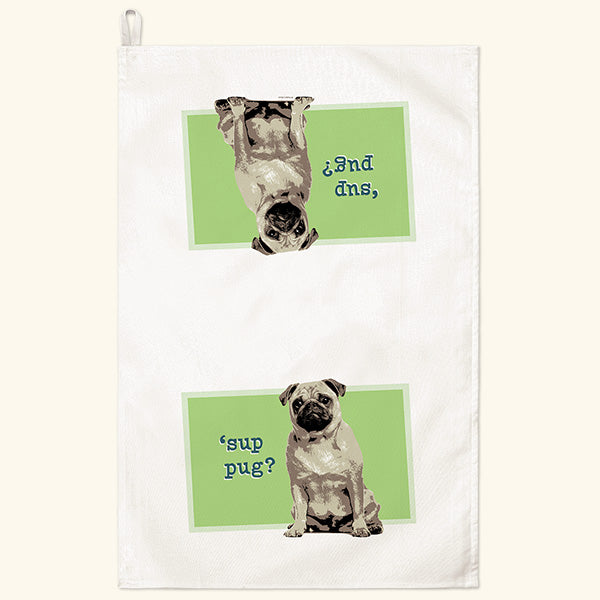 Fiddler's Elbow Pug Kitchen Towel