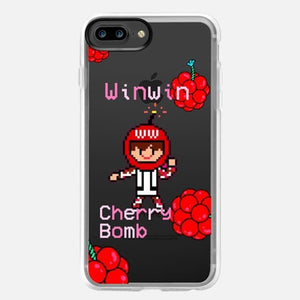 [TRANSPARENT/GLITTER] PIXELATED CHERRY BOMBS (9 DESIGNS)