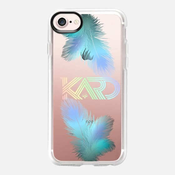 [TRANSPARENT/GLITTER] KARD FEATHERS
