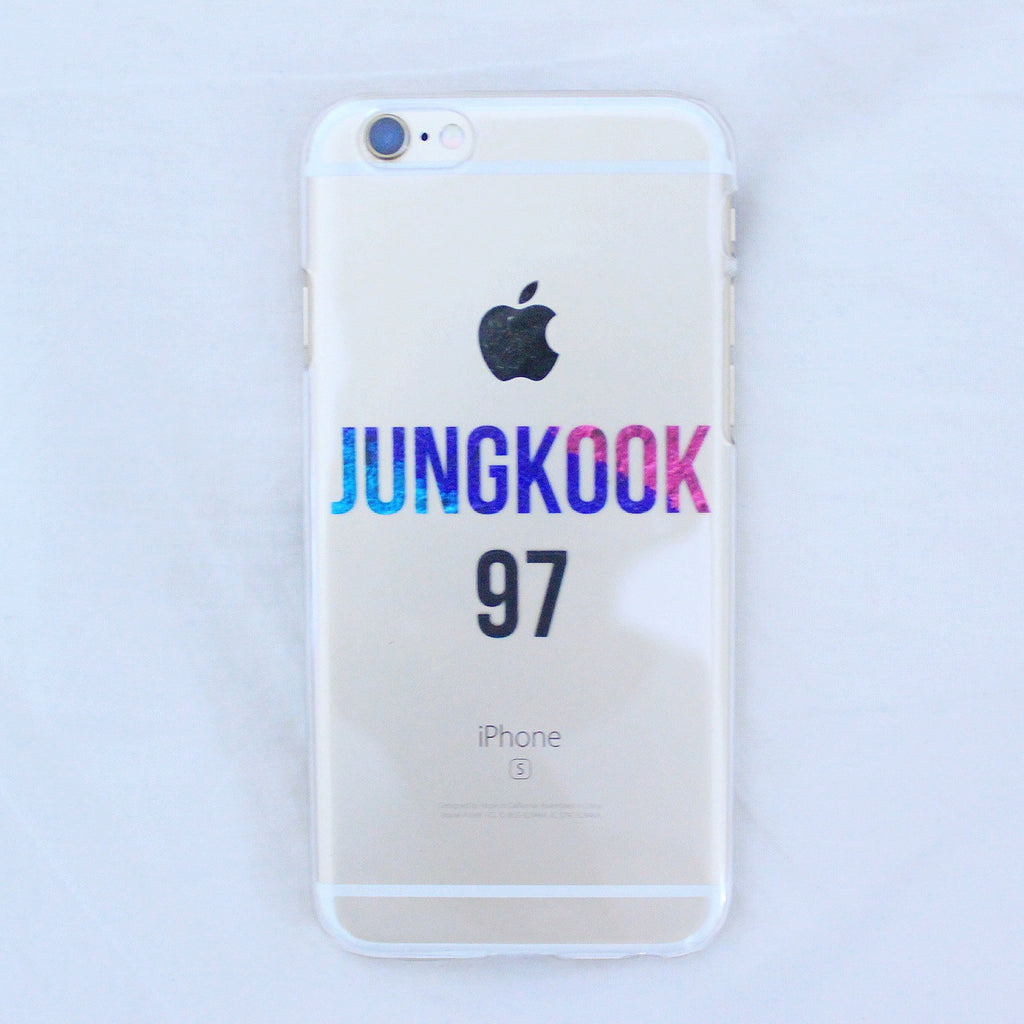 [TRANSPARENT/GLITTER] BTS NAMES AND NUMBERS (7 DESIGNS)