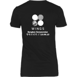 """WINGS"" BLACK WOMEN'S SHIRT"