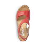 Load image into Gallery viewer, Rieker | 62468-33 | Wedge Sandals Red