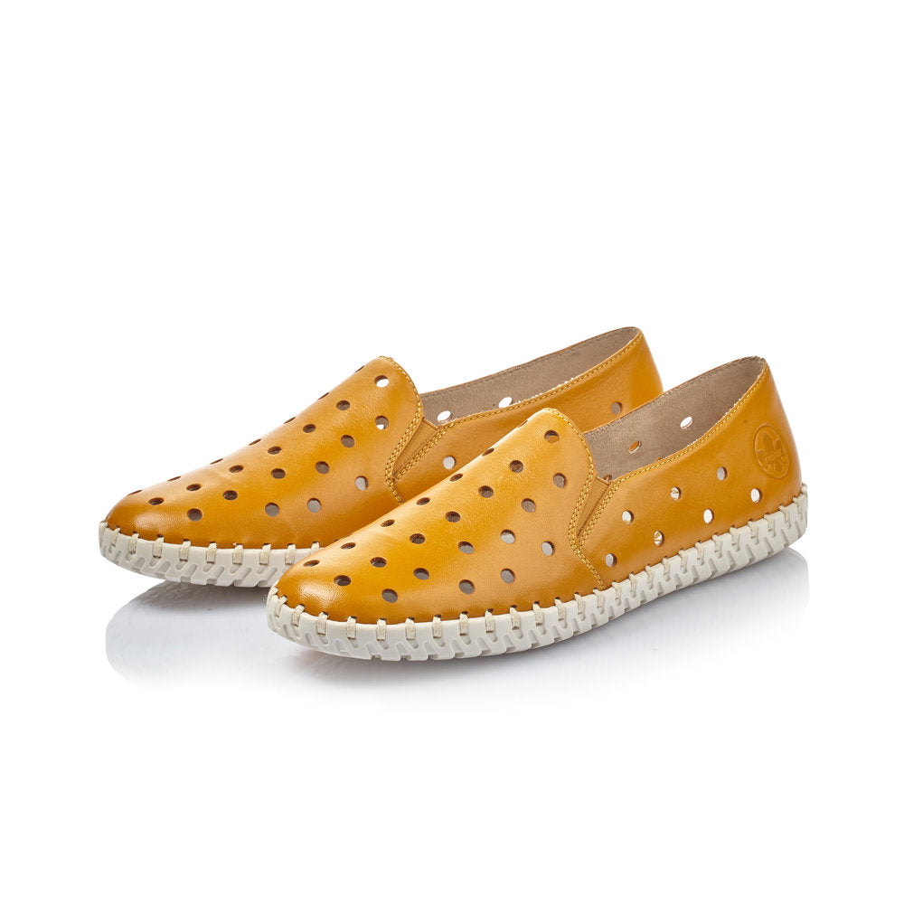 Rieker | L1366-68 | Yellow Loafer