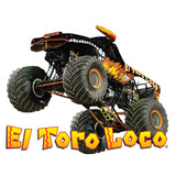 El Toro Loco Black Cornhole Boards