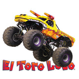 Yellow El Toro Loco Cornhole Boards and Corn Hole Bags