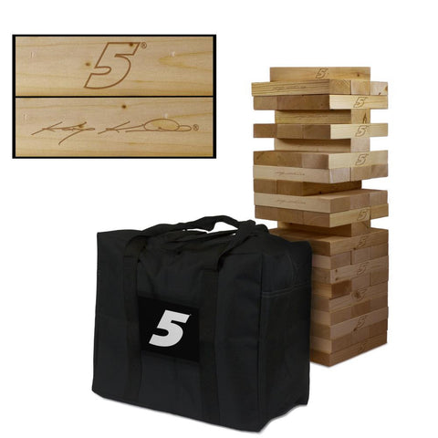 NASCAR #5 Kasey Kahne Giant Jenga Tumble Tower Game