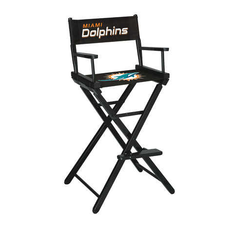 The Miami Bar Height Directors Chair for Dolphins Man Caves