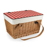 Red Canasta Basket by Picnic Time