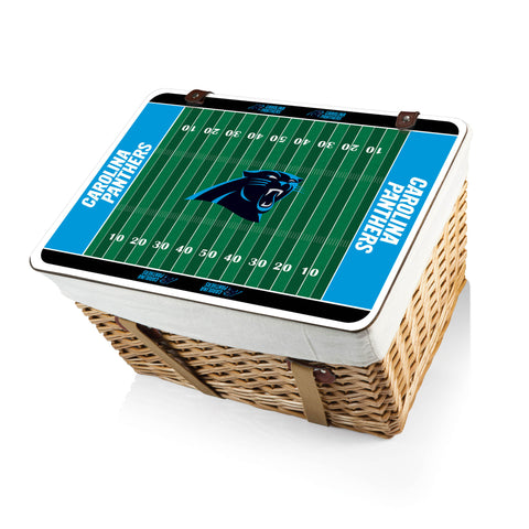 The Carolina Panthers Canasta Grande NFL Basket - Picnic Time 119-00-190-054-2