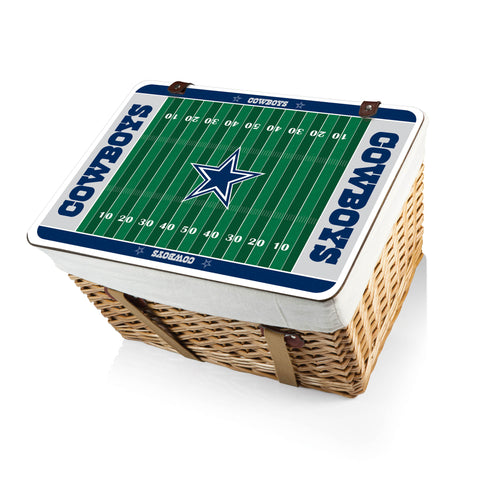 The Dallas Cowboys Canasta Grande NFL Basket - Picnic Time 119-00-190-094-2